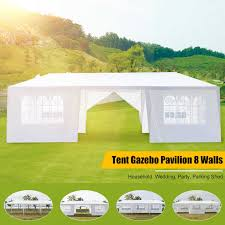 10x10ft Gazebo Tents <b>6 Colors Waterproof</b> Garden Tent Gazebo ...
