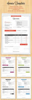 best images about invoicing how to design word professional invoice template set in 5 different colors professional invoice 5 colors size 3 mm bleed cmyk colors fonts used ai eps