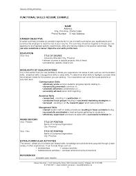 Job Resume Skills Resume For Your Job Application
