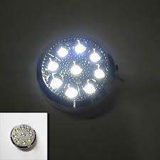 12v Car <b>Round</b> Ceiling <b>Dome</b> Roof Interior Light Lamp 9 Led On/Off ...