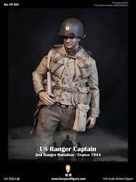 US Ranger Captain, 2nd Ranger Btn, <b>World War</b> II - <b>Facepool 1/6</b> ...
