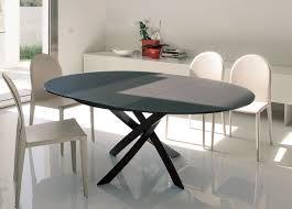 extendable dining table set:  dining table barone  unique round extendable dining table design
