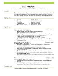 customer service representative resume examples  customer service    customer service representative resume example