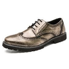 AILADUN <b>Men</b> Formal <b>Microfiber</b> Leather Shoes British Retro Style ...