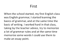 writing when english is not my first language viola gjylbegaj  firstwhen the school started my first english