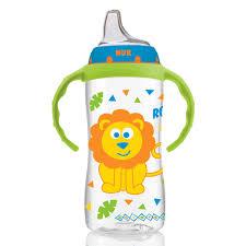 NUK, <b>Large Learner Cup</b>, <b>9</b>+ Months, Jungle Boy, 1 Cup, 10 oz (300 ...