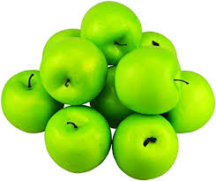 Hexint <b>12Pcs Simulation</b> Fake Apple Artificial Fruit Green Apples ...