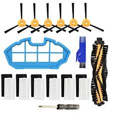 Electropan Robotic Vacuum Cleaner <b>Main Brush</b>, <b>Filter</b>, Side Brush ...