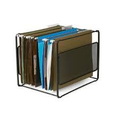 Mind Reader <b>Metal Mesh Hanging</b> Folder File Organizer in Black ...