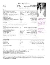 musical theatre resume examples cipanewsletter cover letter sample musical theatre resume musical theatre resume