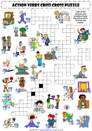 present simple engliship basic action verbs crosswords puzzle page 1 in 2