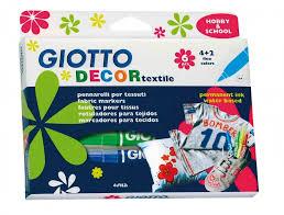 Купить Набор <b>фломастеров</b> для ткани <b>Giotto Decor Textile</b> ...