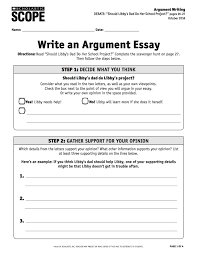 debate scavenger hunt a guide to argument writing scope ideabook students can refer to the list of tone words while writing and use the argument essay checklist to evaluate and revise their essays