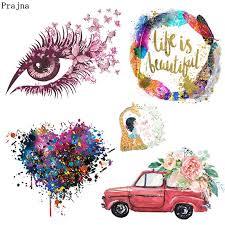 <b>Prajna Fashion Girl</b> Iron On Transfer Eyeball Life Is <b>Beautiful</b> Letters ...