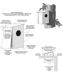 Barred Owl Nest Box Plan   Maryland    s Wild AcresIllustration of Barred owl next box and assembly plans