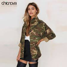 <b>2016</b> New camo jacket <b>women plus Size</b> Long Sleeve Denim Jacket ...