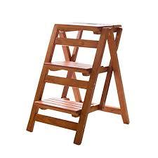 WZ-Folding Steps Ladder Chair Stool <b>Multifunction Wooden</b> ...