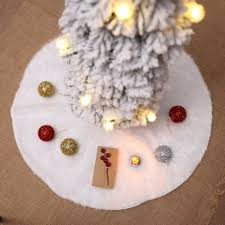 US Stock <b>Christmas</b> Tree Skirt <b>Faux Fur</b> Home <b>Xmas</b> Floor <b>Decor</b> ...