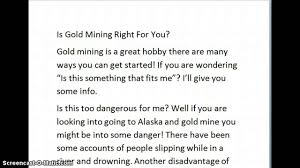 gold mining advantages disadvantages essay gold mining advantages disadvantages essay