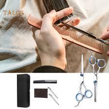 TBH 7Pcs <b>Home Barbershop</b> Hair Cutting Thinning Scissors <b>Comb</b> ...