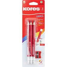 Набор <b>чернографитных карандашей Kores Jumbo</b> HB ...