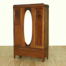 c1949 antique english inlaid mahogany armoire wardrobe w oval mirror f 230 na antique english mahogany armoire furniture