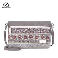 <b>Canvasartisan</b> new <b>women shoulder bag</b> floral casual messenger ...