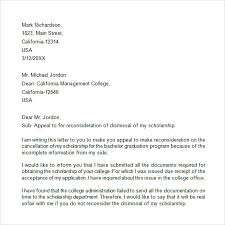 Appeal Letter - 7+ Free Samples , Examples , Format Appeal Letter for College