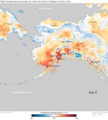 <b>High temperatures</b> smash all-time records in Alaska in early July 2019