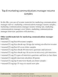 top8marketingcommunicationsmanagerresumesamples 150331212457 conversion gate01 thumbnail 4 jpg cb 1427855141
