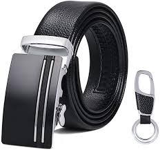flintronic <b>Men's</b> Leather Belt, Automatic Buckle <b>High Quality</b> Leather ...