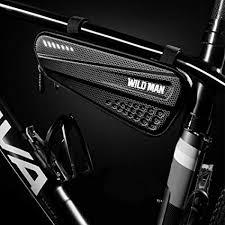 FidgetGear <b>Bicycle Bag</b> Front Tube Frame <b>Bag Hard</b> Shell Rainproof ...