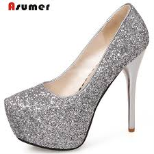 Asumer <b>Plus size 34 43 new</b> fashion sexy 13.5cm ultra high heels ...