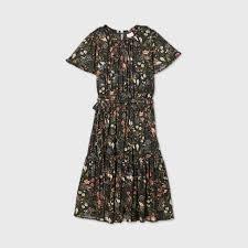 Women's <b>Plus Size Floral Print</b> Short Sleeve Mesh Dress - Ava & Viv ...