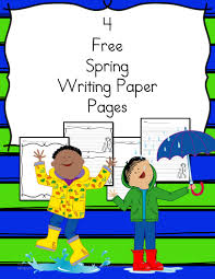 spring writing paper for preschool kindergarten and beyond spring writing paper 4 pages for different levels of students
