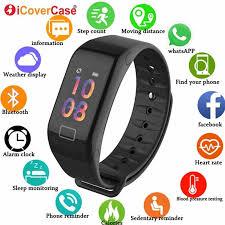 Smart Watch <b>Bracelet</b> Heart Rate <b>Blood Pressure</b> Sport <b>Wristbands</b> ...
