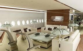 Vista interna da cabine de passageiros do A-380