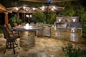 gallery outdoor kitchen lighting: