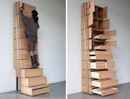 stepladder drawers reduce clutter amazing space saving furniture