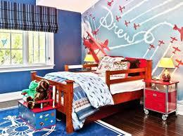 bright airplane themed boys bedroom blue themed boy kids bedroom