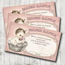 vintage baby shower baby bath diaper raffle cards pink diy 128270zoom