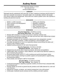 unforgettable security supervisor resume examples to stand out    security supervisor resume sample