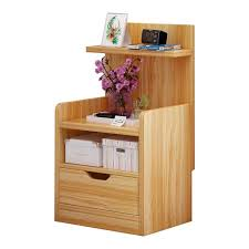 <b>Bedside Cabinet Wood</b> Organizer Storage Shelf Nightstand End ...
