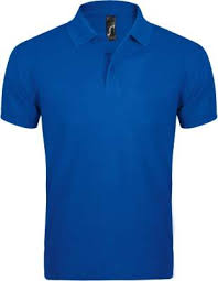 <b>Рубашка поло мужская PRIME</b> MEN 200 ярко-синяя с логотипом ...