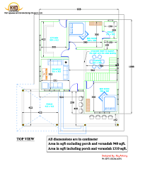 d house plan   Sloping Squared roof   House Design Plans  house plans in d drawings   Top View Plan   March