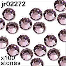 1 pack of 100 light <b>amethyst</b> diamante. <b>Hot</b> fix. <b>Size</b> 3mm/ss10 ...