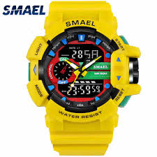 <b>SMAEL</b> Men <b>Watch Digital Sport Watches</b> LED Light Waterproof ...