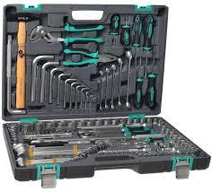 <b>Набор инструментов Stels 14107</b> 1/2'' 3/8'' 1/4'' CrV пластиковый ...