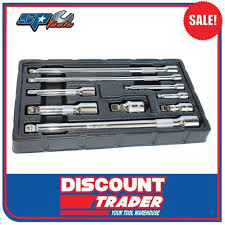 Titan Tools 40109 <b>9 Piece</b> Assorted Impact Extension <b>Bar</b> Set