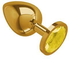 Сумерки богов <b>Золотистая</b> большая <b>анальная пробка</b> с желтым ...